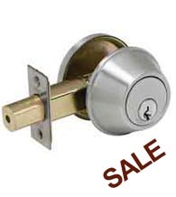 Satin Stainless Steel Deadbolt, Standard Duty, PDQ KV Series