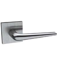 Sleek Stainless Steel Door Lever with Square Rose, AHI 113/204