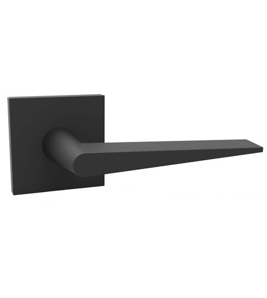 Black Wedge Modern Door Levers