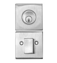 Stainless Steel High Security Square Single Cylinder Deadbolt, AHI 4850