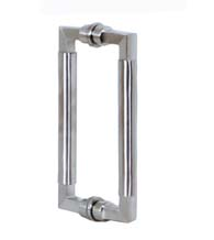Two Tone Stainless Steel Shower Handles, Pair, AHI SD-SIG403-630