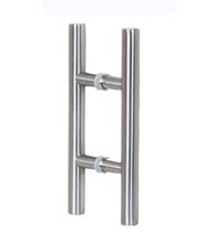 14 Inch Stainless Steel Glass Door Handles, Pair, AHI SD-SIG405-355-630