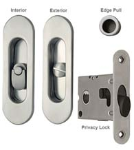 Contemporary Oval Pocket Lock Privacy, Reguitti SDK068PV
