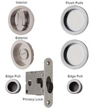Double Pocket Door Lock Set, Reguitti SDK091PV/PA