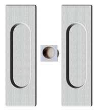 Contemporary Rectangle Pocket Door Passage Set, Reguitti SDK096PA