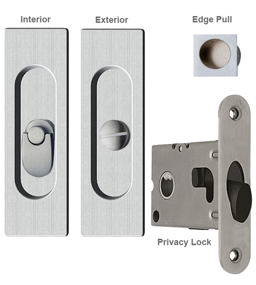 Contemporary Rectangle Pocket Lock Privacy Reguitti