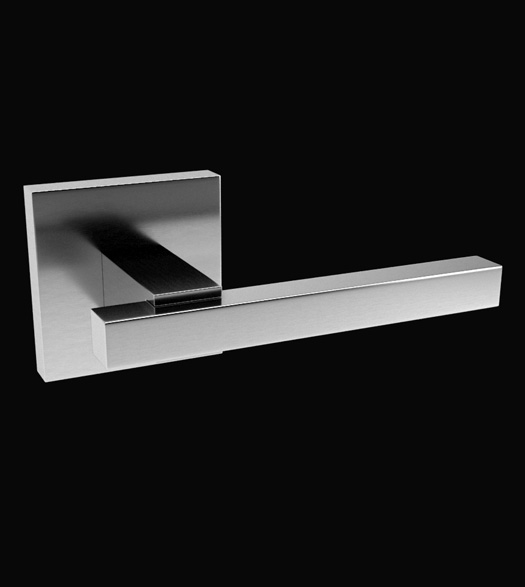 Satin Stainless Steel Modern Square Lever