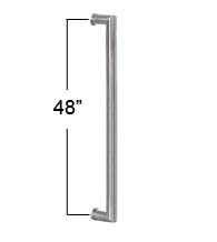 48 Inch Long Contemporary Stainless Steel Door Handle, AHI SIG409-1220-630