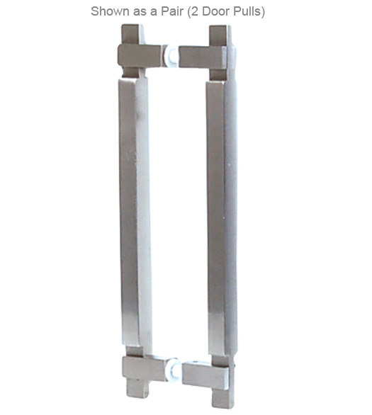 Contemporary Square Stainless Door Pull