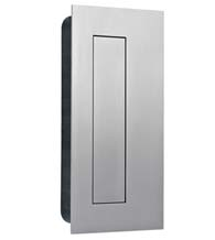 Stainless Steel Rectangular Flush Door Pull with Flush Cover, AHI SIG777-630