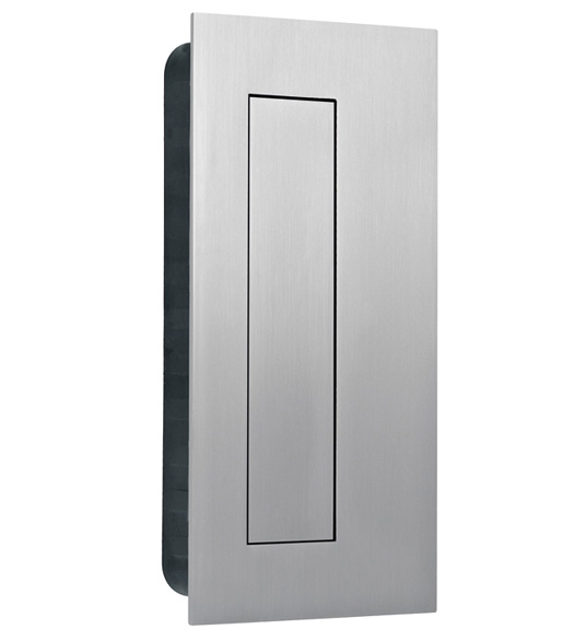 French Door With Recessed Handles Gatehouse 325in Satin