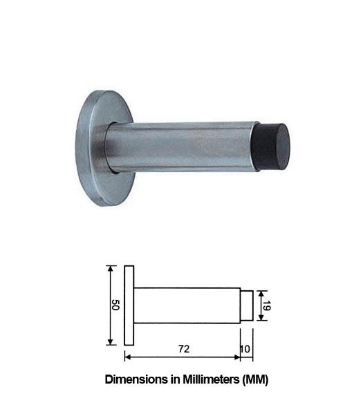 Wall Mount Bumper : Contemporary stainless steel wall mount door bumper ahi
