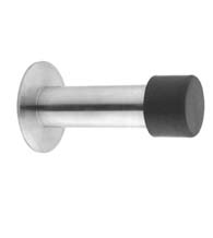 Designer Door Stops modern low profile 304 stainless steel 1 round floor mounted door stop satin Contemporary Stainless Steel Wall Mount Door Stop Ahi Sig727