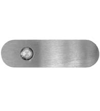 Satin Stainless Steel Oval Doorbell Button, AHI SIG762