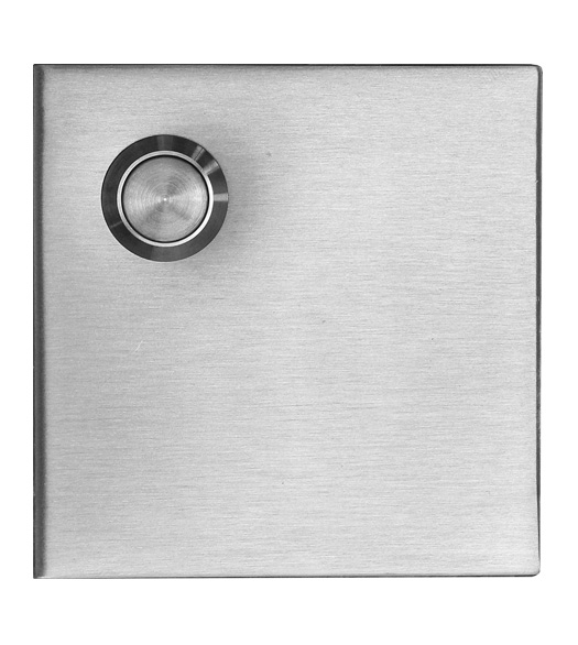 Satin Stainless Steel Square Doorbell Button
