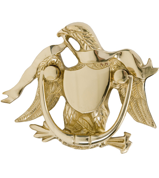 Solid Brass American Eagle Door Knocker