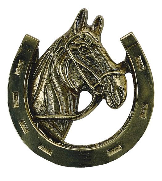 Horseshoe Door Knocker Brass Accents A07 K5030