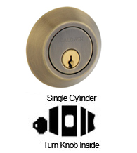 Contemporary Single Cylinder Deadbolt For 2-1/8 Inch Door Preprations, Baldwin 8241