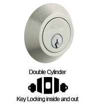 Contemporary Double Cylinder Deadbolt For 2-1/8 Inch Door Preparartions, Baldwin 8242