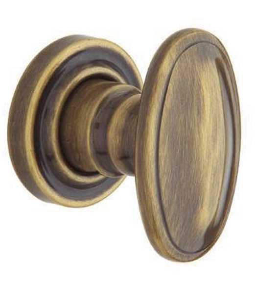 Traditional Oval 5057 Knob With 5002 Rose