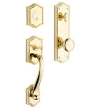 Solid Brass Bristol Two Piece Entrance Trim Set, Baldwin 6420