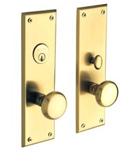 Solid Brass Baltimore Mortise Entry Set, Baldwin 6552