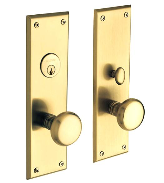 Solid Brass Baltimore Mortise Entry Set Baldwin 6552 Doorware