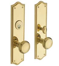 Mortise Barclay Rope Knob Entrance Set, Baldwin 6554