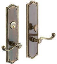 Mortise Barclay Rope Lever Entrance Set, Baldwin 6939