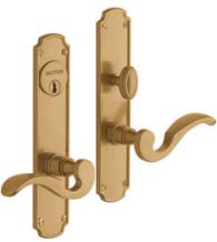 Solid Brass Bismark Mortise Entry Set, Baldwin 6942
