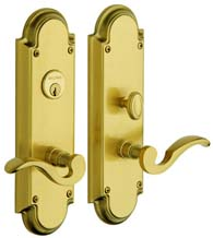 Solid Brass Stanford Mortise Entry Set, Baldwin 6951