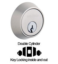 Contemporary Double Cylinder Deadbolt For 1-5/8 Inch Door Preparations, Baldwin 8011