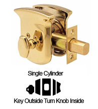 Tahoe Single Cylinder Grade 1 Deadbolt, Baldwin 8213