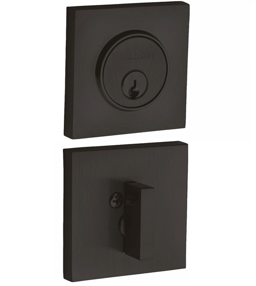 Modern Square Single Cylinder Deadbolt