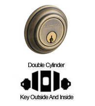 Double Cylinder Traditional Deadbolt For For 2-1/8 Inch Door Cutout, Baldwin 8232