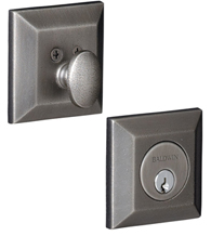 Single Cylinder Squared Grade 1 Deadbolt, Baldwin 8254