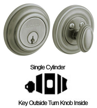 Low Profile Traditional Single Cylinder Deadbolt For 2-1/8 Inch Door Cutout, Baldwin 8231