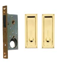Sliding or Pocket Door Lock, Baldwin 8570