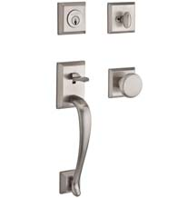 Napa Handleset with Matching Square Interior Trim, Baldwin NAP-TSR