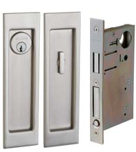 Large Santa Monica Pocket Door Keyed Entry, Baldwin PD005-ENTR
