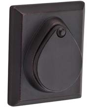 Rustic Rectangular Deadbolt with Covered Cylinder, Baldwin RSD