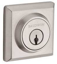 Square Rose Deadbolt, Baldwin TSD