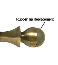Replacement Domed Rubber Tip For Baseboard Door Stop