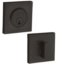 Square Single Cylinder Grade 1 Deadbolt, Baldwin 8220