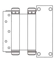 8 Inch  Commercial  Box Clamp Type Double Acting Spring Hinge, Pair, Bommer 3044-8