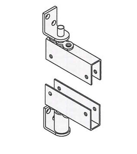 Box Clamp Mount Louvered Door Gravity Pivot Hinge, Bommer 7514