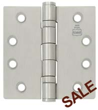 4-1/2 x 4 Stainless Steel Hinge with 2 Ball Bearings, Bommer BB5002-454-630