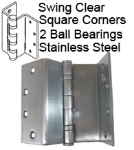 4-1/2 Inch Stainless Steel Swing Clear Hinge, Bommer BB5022-045R
