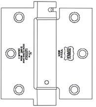 3-1/2 x 3-1/2  x Square Corners Stainless Steel Spring Hinge, Pair, Bommer LB4390C-350