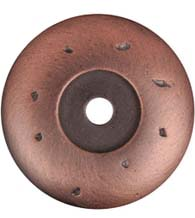 Distressed Cabinet Knob Round Rose, RK International BP-486